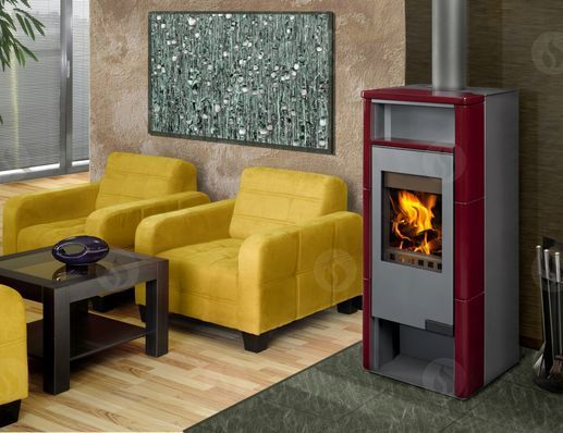 GRANADA 01 keramika - krbová kamna s teplovodním výměníkem